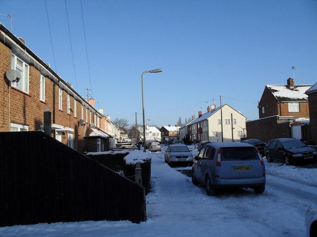 A snowy Ellisfield Road