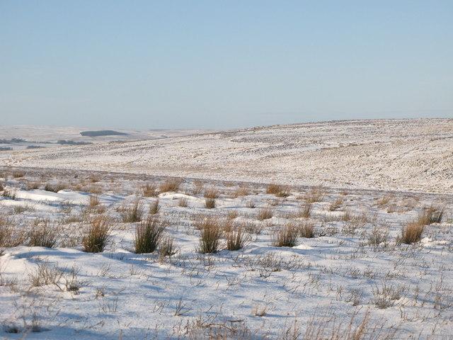 Snowy Black Hill
