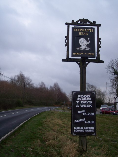 Pub Sign on the B2169 Furnace Lane