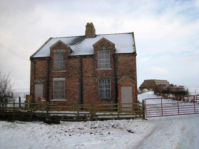 Deserted estate house