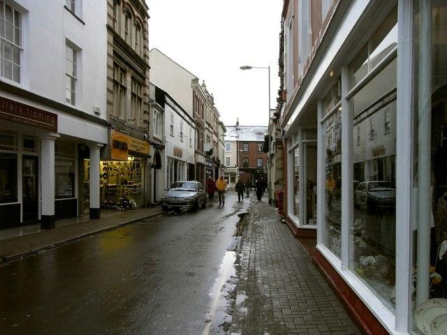 Joy Street heading towards Boutport Street