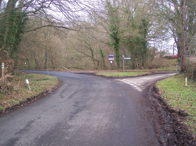 Road junction on Clay Hill Road