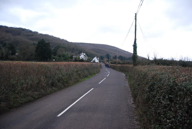 The road to Porlock Weir