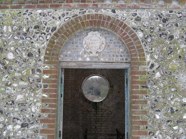 Doorway to pumphouse under restoration