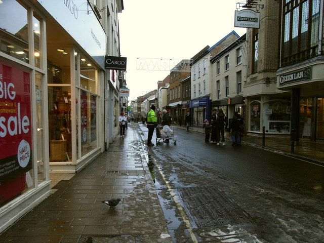 The High Street facing north