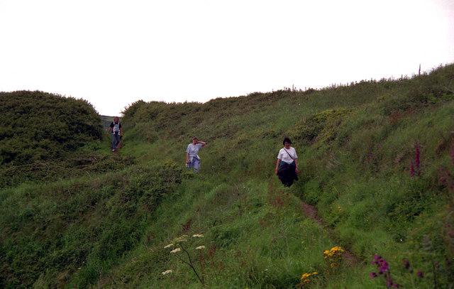 Coastal footpath near Poltesco