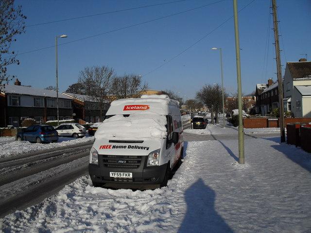 A most topical van in Dunsbury Way