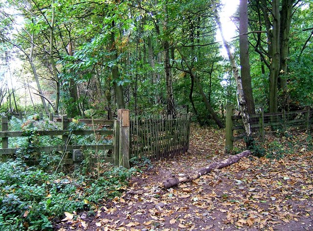 Start of footpath off Gothersley Lane