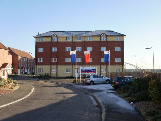 Apartment building, Argosy Way, Newport