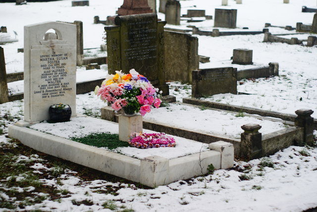 Queen's Road Cemetery, Croydon, in Winter (6)