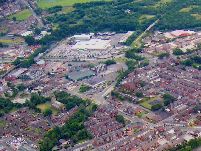 Aerial view of Radcliffe