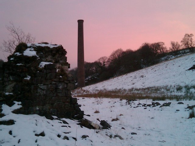 Stack from Henllys Vale lime kilns of Henllys Vale colliery