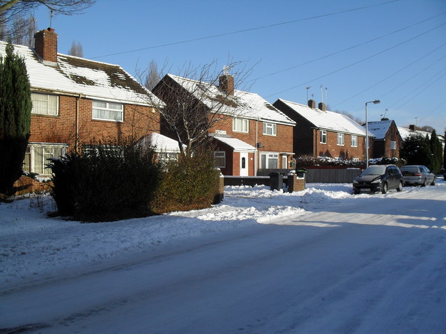 Thick snow in High Lawn Way