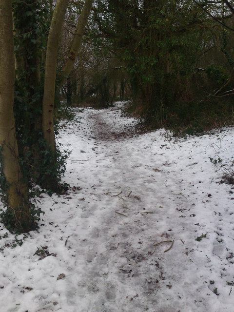 Start Footpath to Hound Road