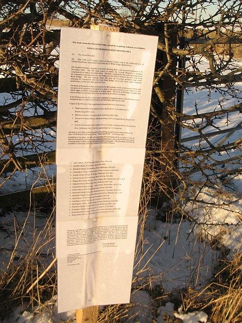 Statutory notice