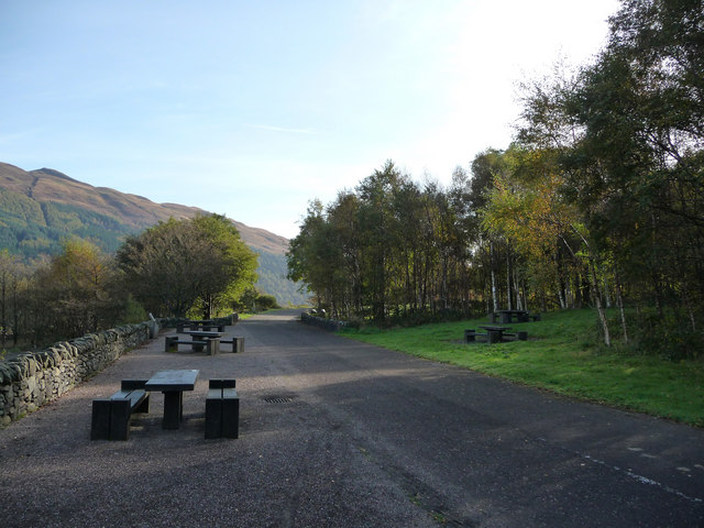 Picnic benches beside the cycle path at Firkin Point