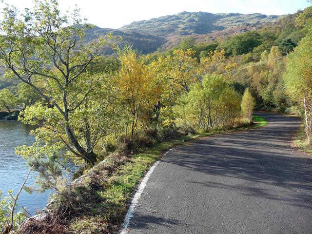 Cycle path at Rubha Dubh
