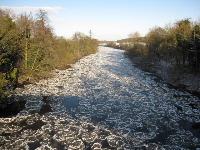 Pancake ice on the River Dee