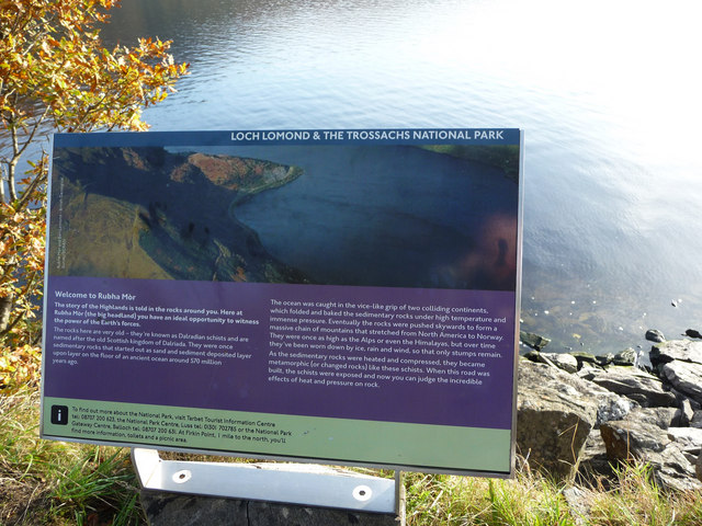 Interpretation board at Rubha Mor