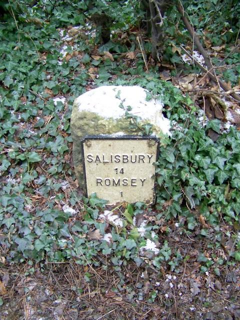 Milestone near Romsey
