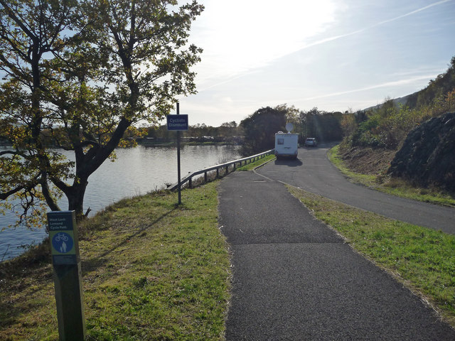 Cycle path near Inverbeg