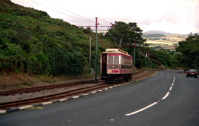 Manx Electric Railway near Groudle