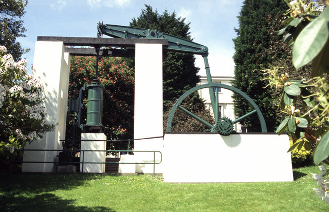 Preserved steam engine, University of Glamorgan