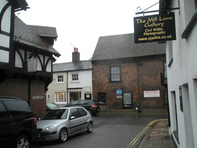 Looking from Mill Lane into High Street