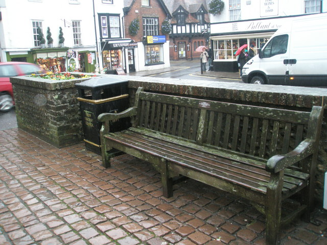 Unappetising seat by the war memorial