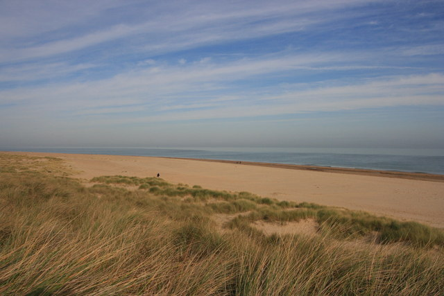 The dunes and beach, Winterton