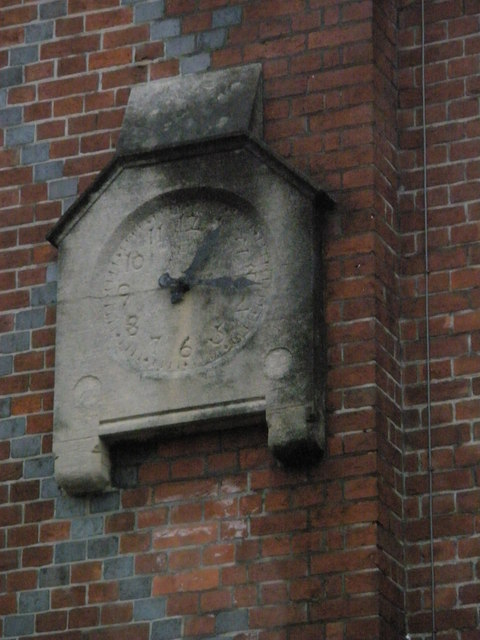 Ancient clock above Peglers in Arundel town centre