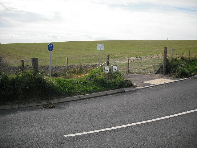 New cycle path, East Haven