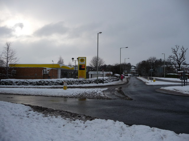 Tiverton : Morrisons Petrol Station & Kennedy Way