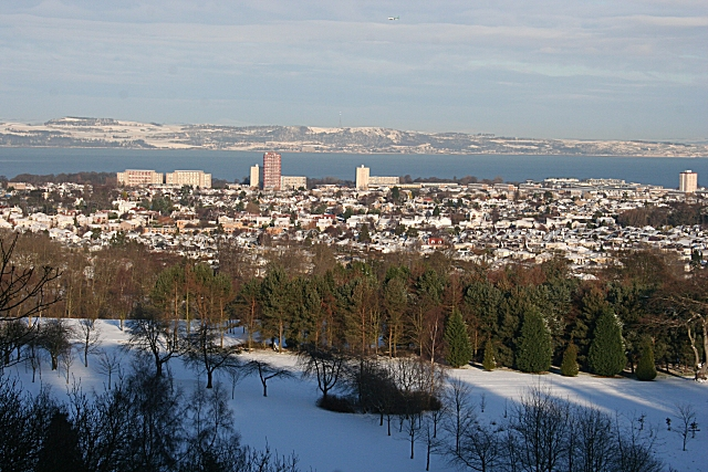Looking towards Granton and the Firth of Forth