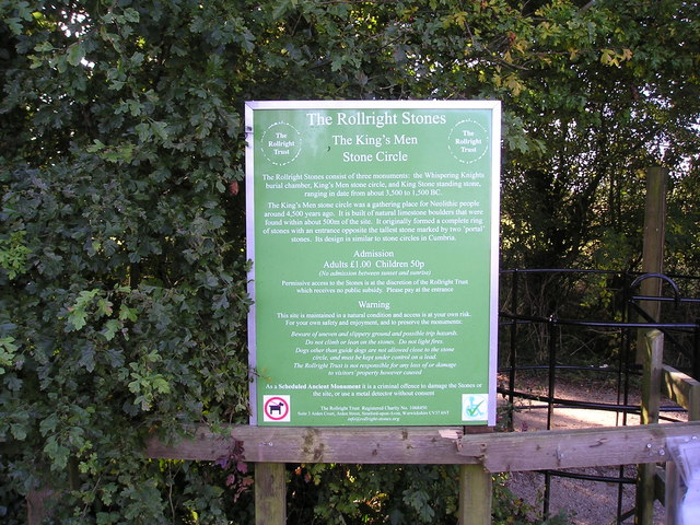 Information Sign for the Rollright Stone Circle