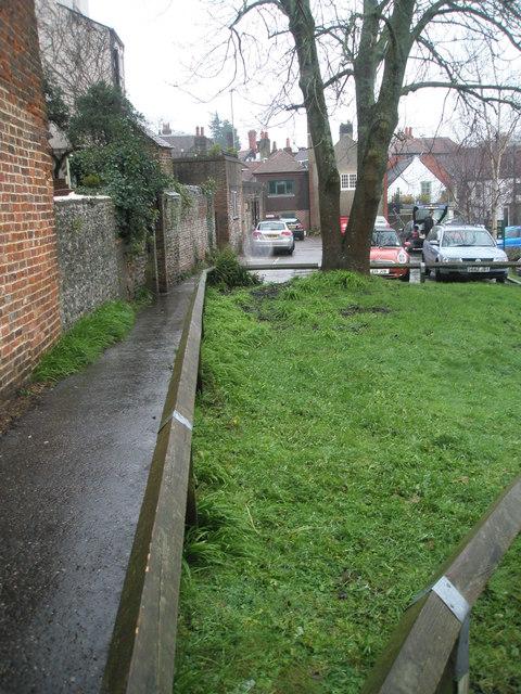 Path to Crown Yard Car Park