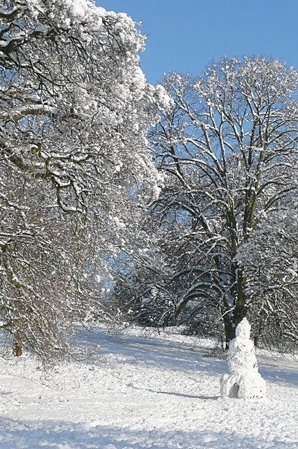Snowman is Prospect Park