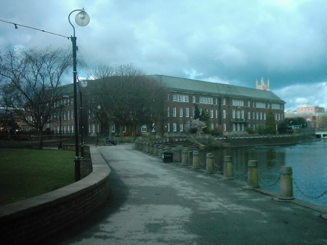 Derby City Council House and River Derwent.