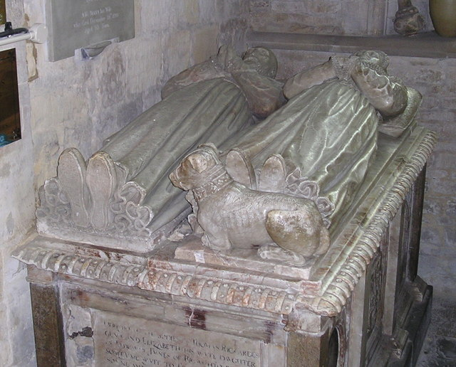 Effigy in St Mary's Church, Chipping Norton