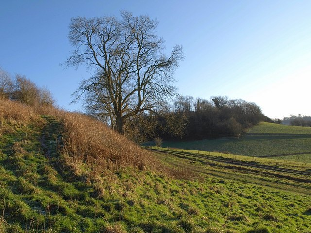 Cotswold scarp at Birch Hill