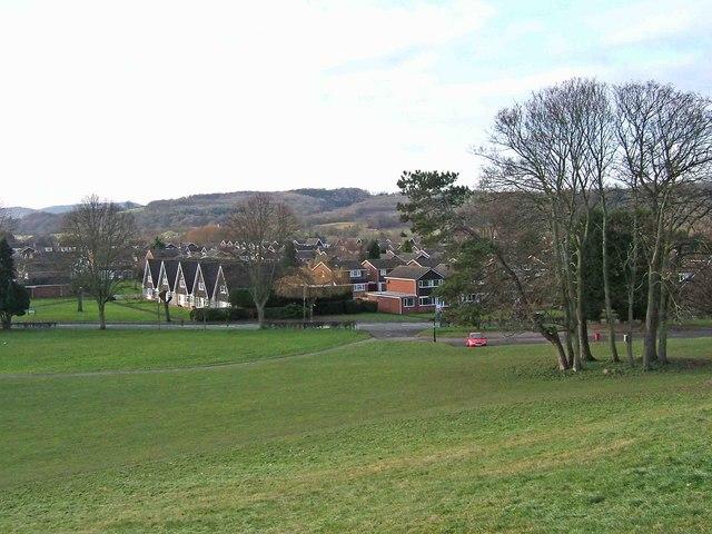 Stourport War Memorial Park looking towards Lower Lickhill Road