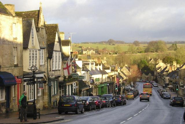 Winter Sunshine , Burford High Street