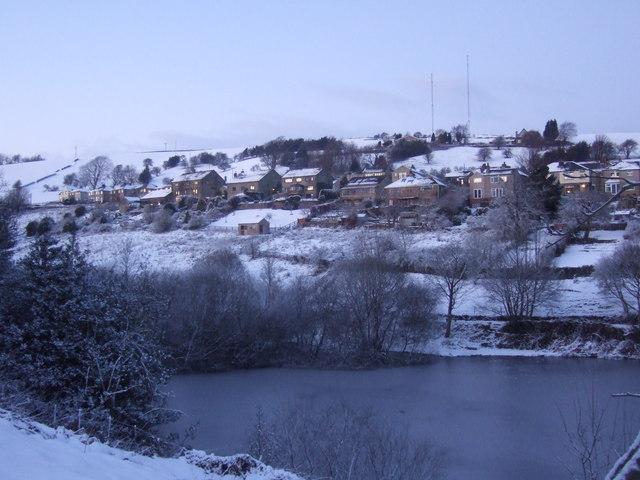 Hill Top & reservoir, Slaithwaite