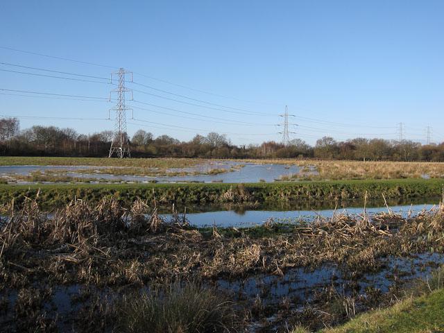 Frozen flood, Staines Moor