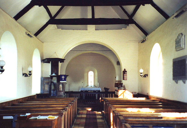 Interior of St. Mary Magdalene, Whipsnade, Beds.