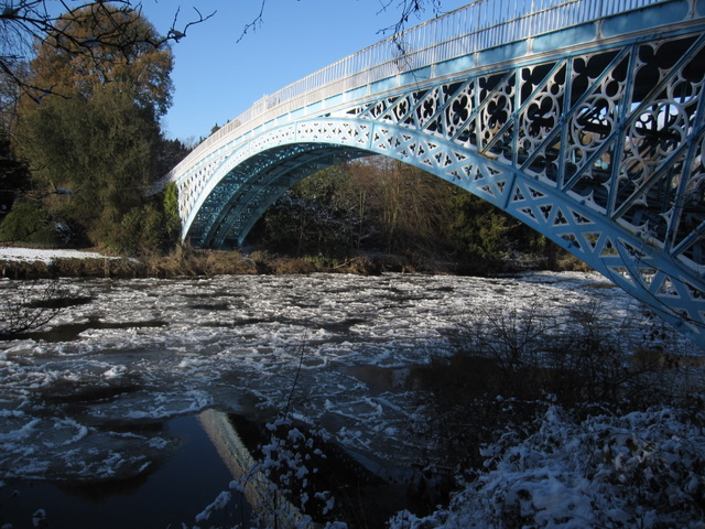 Pancake ice under the Iron Bridge