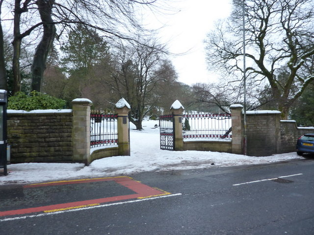 Entrance to Oak Hill Park off Manchester Road