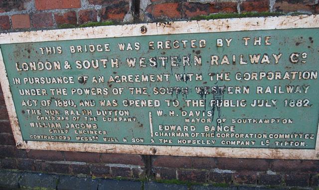 Central Bridge plaque