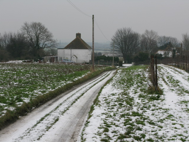 Track to Parsonage Cottages and Marshborough