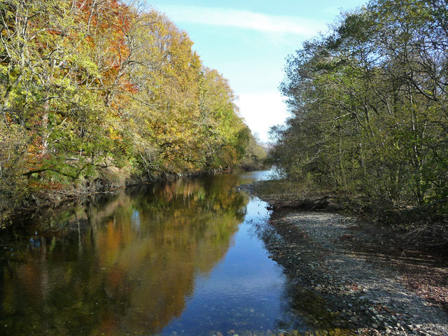 Luss Water from the footbridge to Luss Glebe